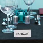 Targhetta prenotazione tavolo