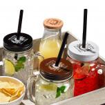 Tappo Vintage con foro per cannucce per Jar Mix