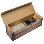Cofanetto per Bottiglia Cartone Rovere