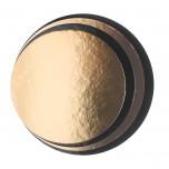 Disco sottotorta in cartone politenato liscio Oro/Nero