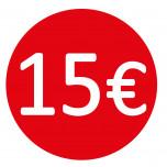 Etichetta 15€