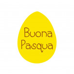 Etichetta Adesiva Uovo Buona Pasqua
