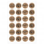 Etichetta Adesiva Kraft Vintage