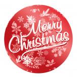 Etichette Adesive Natale Metal Rosso
