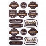 Etichetta Adesiva Chocolate Vintage Mix