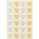 Etichetta Adesiva Handmade with Love Mix