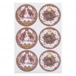 Etichette Adesive Christmas Kraft Mix
