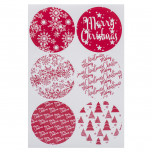 Etichette Adesive Christmas Red Mix