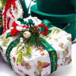 Nastro Doppio Raso Merry Christmas Verde Bosco