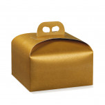 Scatola Portapanettone Gold
