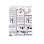 Sacchetto per panino News aperto sui lati Bianco/Nero