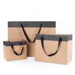 Shopper Kraft manico cotone nero