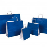 Shopper Carta Bicolor Blu