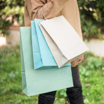 Shopper Carta Erba Azzurro misure