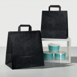 Shopper Take Away piattina Nero
