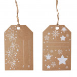 Tag Christmas Kraft con Cordino Mix