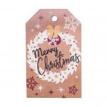 Tag Christmas Kraft Red Mix