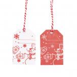 Tag Christmas Red con Cordino Mix