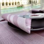 Tovaglia Monouso Coprimacchia Tweed in Airlaid Lilla