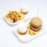Vassoio Bio Street Food in Polpa di Cellulosa Bianco