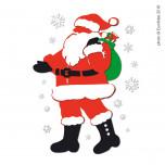 Vetrofania Babbo Natale