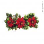 Vetrofania Festone 3 Stelle di Natale