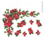 Vetrofania Stelle di Natale angolari