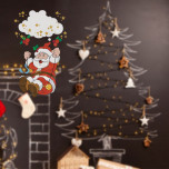 Vetrofania Babbo Natale su Altalena