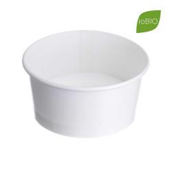 Coppette Gelato Bio in Cartoncino e MaterBi Bianco
