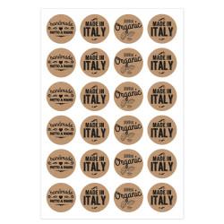 Etichetta Adesiva Kraft Artigianale