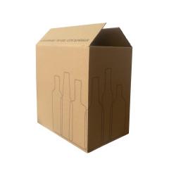 Scatola Nakpack® Spedizione Bottiglie Mini Avana