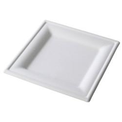Piatto Quadrato in Polpa di Cellulosa