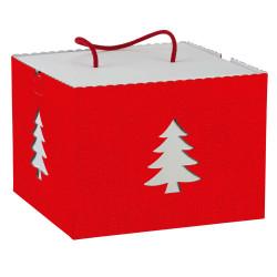 Scatola Box Albero con Cordini Rosso