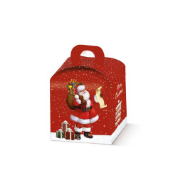 Scatola Portapanettone Babbo Natale
