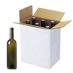 Scatole per Bottiglie Bordolese con Alveare Bianco