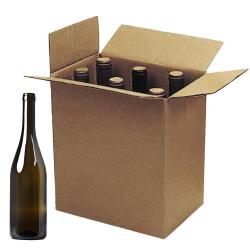 Scatole per Bottiglie Borgognotte con Alveare Avana