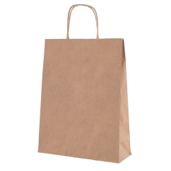 Shopper Carta Biokraft cordino Avana