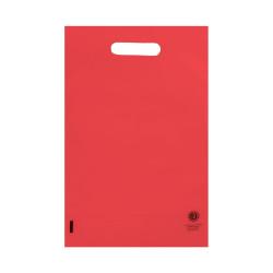Shopper Plastica con soffietto Rosso