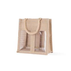 Shopper Portavasetti juta 2 vasetti Naturale
