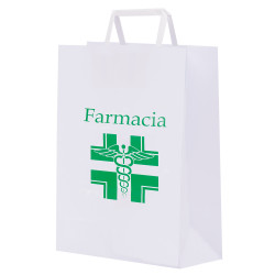 Shopper Carta Kraft Farmacia