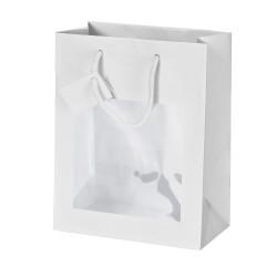Shopper Carta Lusso con vetrina Bianco