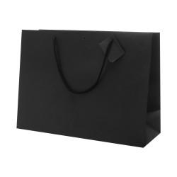 Shopper Carta Lusso Tag & Foro Nero