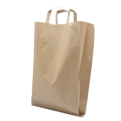 Shopper Flat Bag Carta Naturale Avana