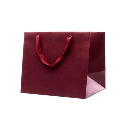Buste Shopper Fondo Largo Kraft Elegance Bordeaux