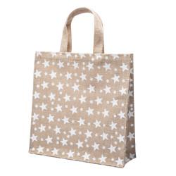 Shopper Juta Stelline Bianco