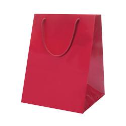 Shopper Portapanettone Lusso Opaca Rosso