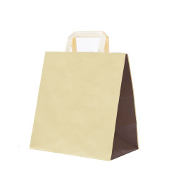 Shopper Take Away Bicolor Crema Cacao