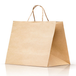 Shopper Take Away Manico Cordino Avana
