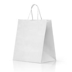 Shopper Take Away Manico Cordino Bianco