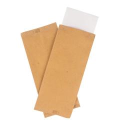 Portaposate cartapaglia con tovagliolo
